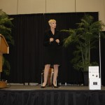 Diane on Stage at the Power of the Purse 2012