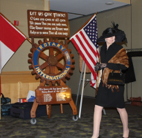 Mrs. Burnthorpe III at the Rotary Club